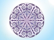 Link toAntique floral circle vector free