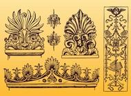 Link toAntique ornament vectors free