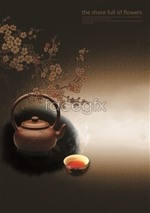 Link toAntique tea culture poster design psd