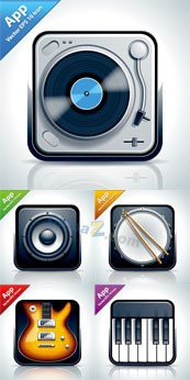 Link toApp music icon vector design