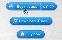 Link toApp store buttons psd