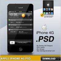 Link toApple iphone 4g free psd