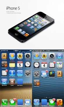 Link toApple iphone5 ui design iso6 system psd