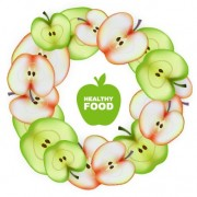 Link toApple slice healthy food background vector 01 free