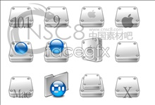 Apple stereo hard disk icon 3