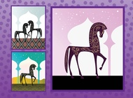 Link toArabian horses vector free
