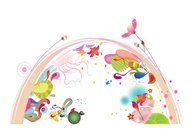 Link toArc and flowers vector free