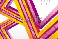 Link toArrange six colorful geometric pattern background vector
