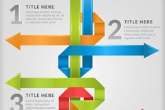 Link toArrow business chart color paper folding vector