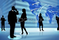 Link toArrow business people the world map pictures