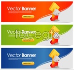 Link toArrow line banner vector