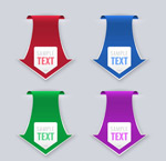 Link toArrow-shaped label design vector
