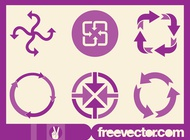 Link toArrows icon set vector free