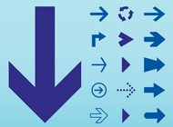 Link toArrows icons set vector free