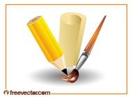 Link toArt supplies design vector free