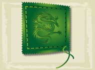 Link toAsian dragon stamp vector free