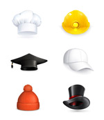 Link toAssorted hat icon vector
