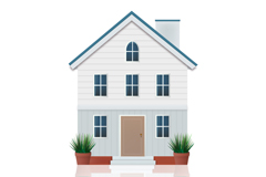Link toAttractive white three-story house vector