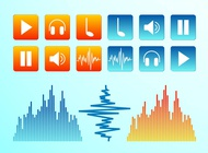 Link toAudio icons vector free