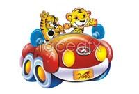 Link toAuspicious fu tiger cartoon vector