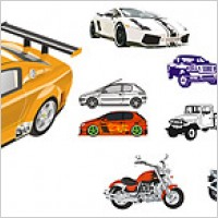 Link toAutomobile and motorcycle vector material