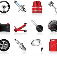 Link toAutomotive accessories icon vector