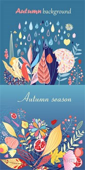 Link toAutumn cute background images design vector