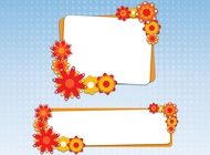 Link toAutumn floral banners vector free