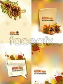 Link toAutumn fruits and leaves vector