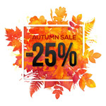 Link toAutumn leaf color discount posters vector