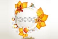 Link toAutumn leaf decorative lace vector