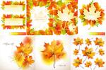 Link toAutumn leaf design vector