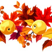 Link toAutumn leaves and fruit vector seamless pattern free
