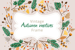 Link toAutumn leaves border branches vector
