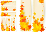 Link toAutumn maple leaf chinese restaurant banner vector