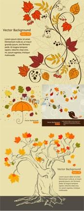 Link toAutumn maple leaf chinese restaurant design vector