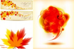 Link toAutumn maple leaf chinese restaurant theme vector