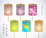 Link toAutumn paper lanterns vector