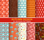 Link toAutumn style seamless background vector