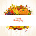 Link toAutumn thanksgiving cards vector