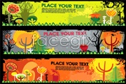Link toAutumn theme banner background vector