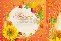 Link toAutumn theme design elements vector ii