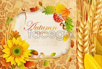 Link toAutumn theme design elements vector