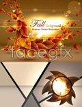 Link toAutumn yellow leaves vector