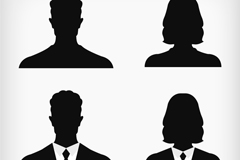 Link toAvatar 4 business people silhouettes vector
