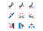Aviation safety icons vector