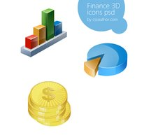 Link toAwesome finance 3d icon set psd for free download