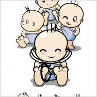 Link toBaby cartoon characters vector