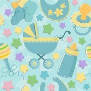 Link toBaby cute background vector