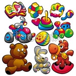 Link toBaby food toys 3 vector